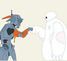 Baymax and Chappie by Ztw1217