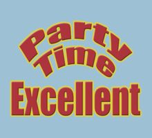 Party Time Excellent Quote T-Shirt Sticker Kids Tee