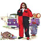 Hurley Quinn Lost/Batman Mashup by Jesse Rubenfeld