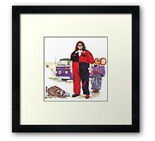 Hurley Quinn Lost/Batman Mashup Framed Print