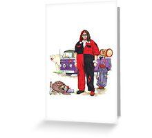 Hurley Quinn Lost/Batman Mashup Greeting Card