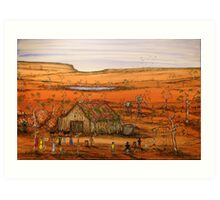 """Outback Life Australia""    Australian; won the Peoples Choice award in the Exhibition. SOLD Art Print"