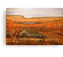 """Outback Life Australia""    Australian; won the Peoples Choice award in the Exhibition. SOLD Canvas Print"