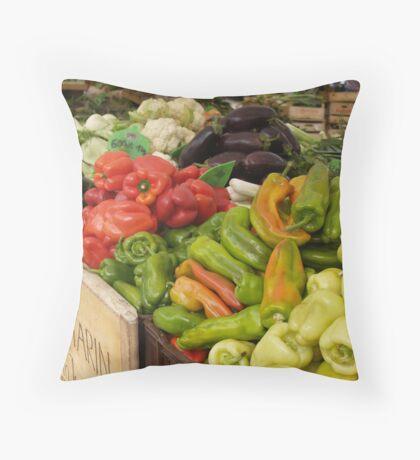 Market Produce Throw Pillow