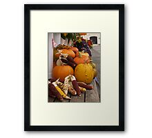 Autumn Vegetables Framed Print