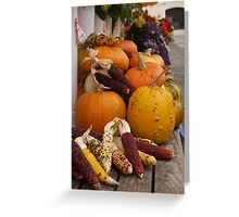 Autumn Vegetables Greeting Card