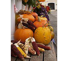 Autumn Vegetables Photographic Print