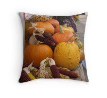 Autumn Vegetables Throw Pillow