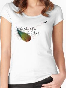 birds of a feather Women's Fitted Scoop T-Shirt