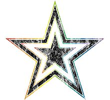 rainbow star Photographic Print