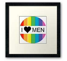 i heart men Framed Print