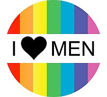 i heart men Photographic Print