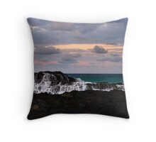 Green Seas Throw Pillow