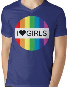 i heart girls Mens V-Neck T-Shirt
