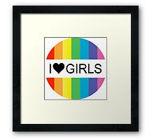 i heart girls Framed Print