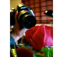 The Camera and the Rose. Photographic Print
