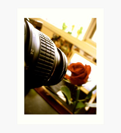 The Camera and the Rose II. Art Print