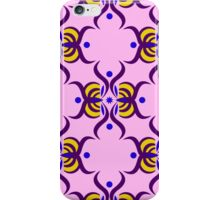 Seamless pattern with purple ornament on the pink background iPhone Case/Skin