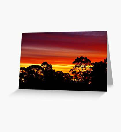 Coloured Sky Greeting Card
