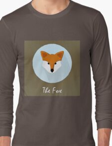 The Fox Cute Portrait Long Sleeve T-Shirt