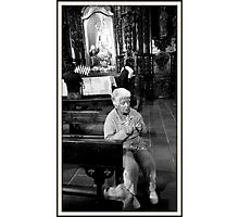 Praying Photographic Print