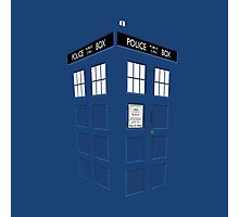 Tardis Blue Photographic Print