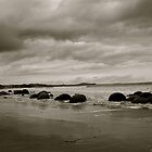 Moeraki Boulders.  by shrimpies4life