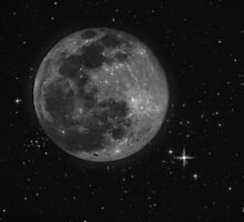 Moon set against star field… by Joseph Campbell