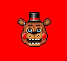 Five Nights at Freddy's 2 - Pixel art - Blue eyes Toy Freddy by GEEKsomniac
