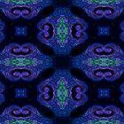 Blue Tapestry (landscape orientation) by Sandra Chung