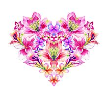 Heart of flowers Photographic Print