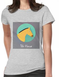 The Horse Cute Portrait Womens Fitted T-Shirt