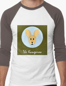 The Kangaroo Cute Portrait Men's Baseball ¾ T-Shirt