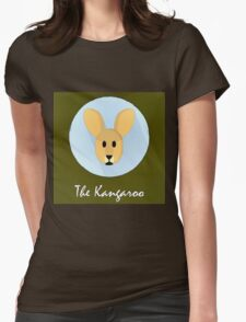 The Kangaroo Cute Portrait Womens Fitted T-Shirt