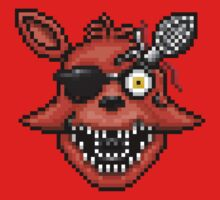 Five Nights at Freddy's 2 - Pixel art - Foxy One Piece - Short Sleeve