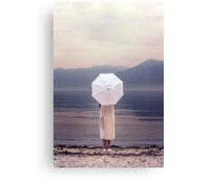 white parasol Canvas Print