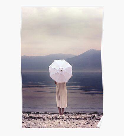 white parasol Poster