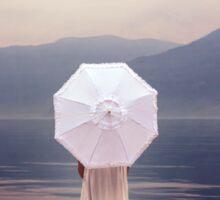 white parasol Sticker