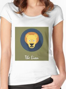 The Lion Cute Portrait Women's Fitted Scoop T-Shirt
