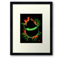 Super Smash Bros. Bowser Jr Silhouette Framed Print