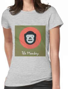 The Monkey Cute Portrait Womens Fitted T-Shirt