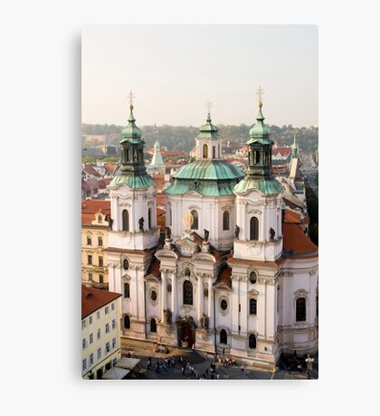 Saint Nicholas Church in Prague Canvas Print