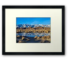 Ice Puddle Framed Print