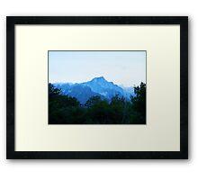 Lone Pine Peak in snow Framed Print