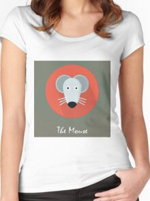 The Mouse Cute Portrait Women's Fitted Scoop T-Shirt