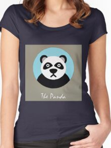 The Panda Cute Portrait Women's Fitted Scoop T-Shirt