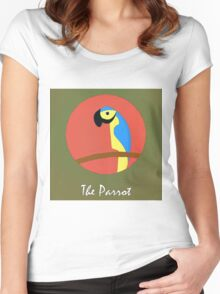 The Parrot Cute Portrait Women's Fitted Scoop T-Shirt