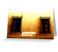 Please (Street Message) Greeting Card