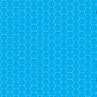POSTER; 16x20 HEXES White on LIGHT BLUE Black Numbers by Radwulf