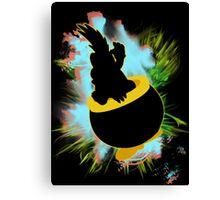 Super Smash Bros. Lemmy Silhouette Canvas Print